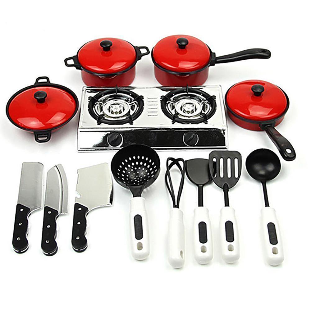 13 unids/set niños simulación utensilios de cocina juguete cocina utensilios de cocina ollas platos utensilios de cocina suministros