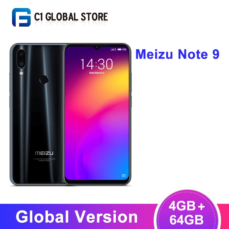 "Versión Global Meizu Nota 9 4GB 64GB Smartphone Snapdragon 675 Octa Core 6,2 ""de pantalla de 2244x1080 48MP Cámara Dual AI frontal 4000mAh"