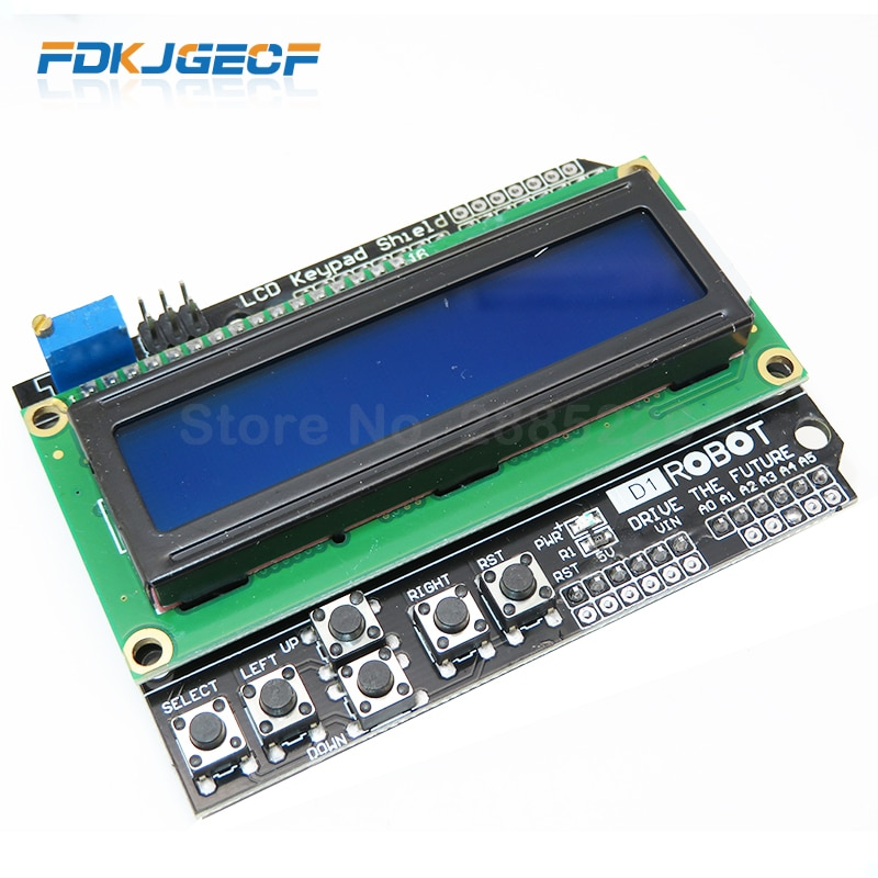 10Pcs Lcd Keypad Shield LCD1602 Lcd 1602 Module Display Voor Arduino ATMEGA328 ATMEGA2560 Raspberry Pi Uno Blauw Scherm