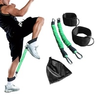 resistance bands crossfit running tubes leg jump muscle training football basketball bounce exercise speed agility pull rope
