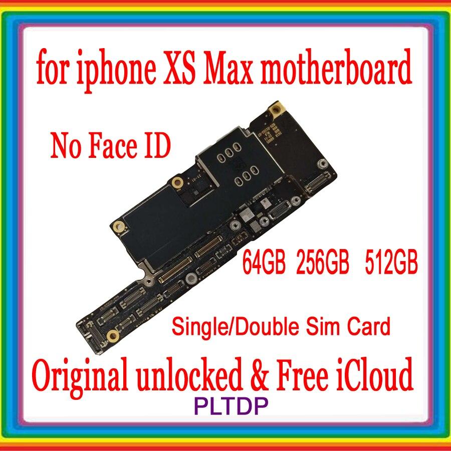 64GB 256GB 512GB desbloqueado para iPhone XS Max placa base sin cara ID placa base para iPhone XS Max placa lógica, 100% Original