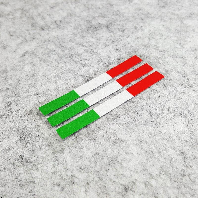 Pegatinas para garabatos de monopatín, bandera nacional de Italia, pegatina para ventana de coche reflectantes JDM, estilo para el coche de 12x0,8 cm 1 lote
