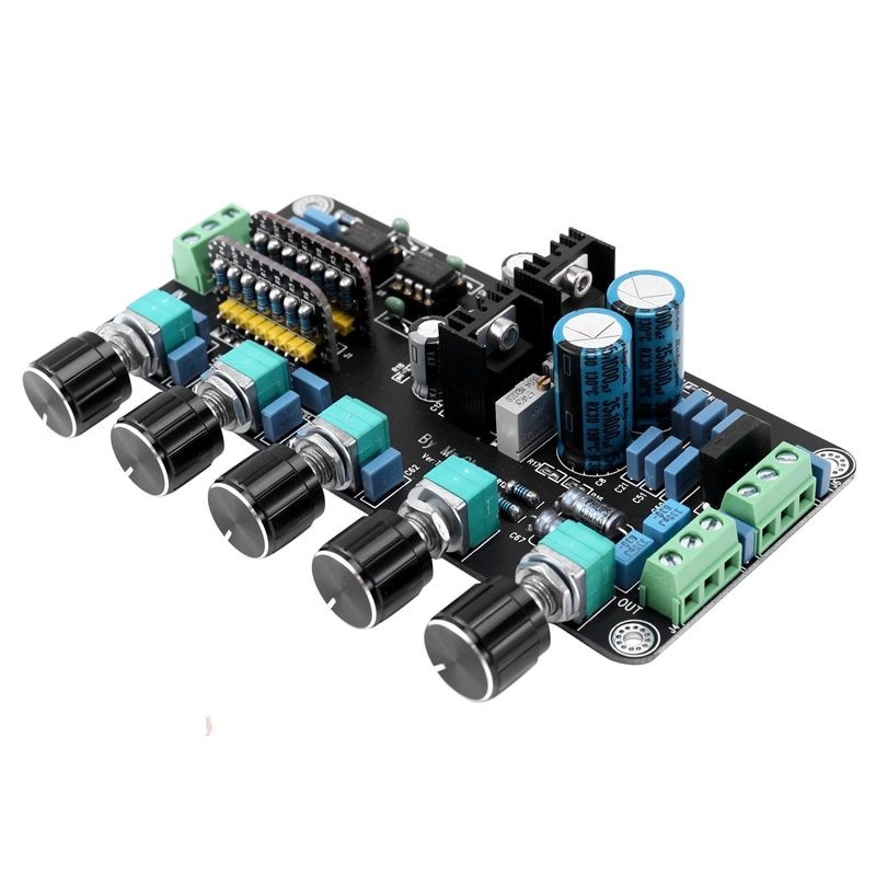 Preamp Tone Board OP AMP Stereo Preamplifier Volume Tone Control OPA2604 AD827JN with LM317+LM337 Circuit