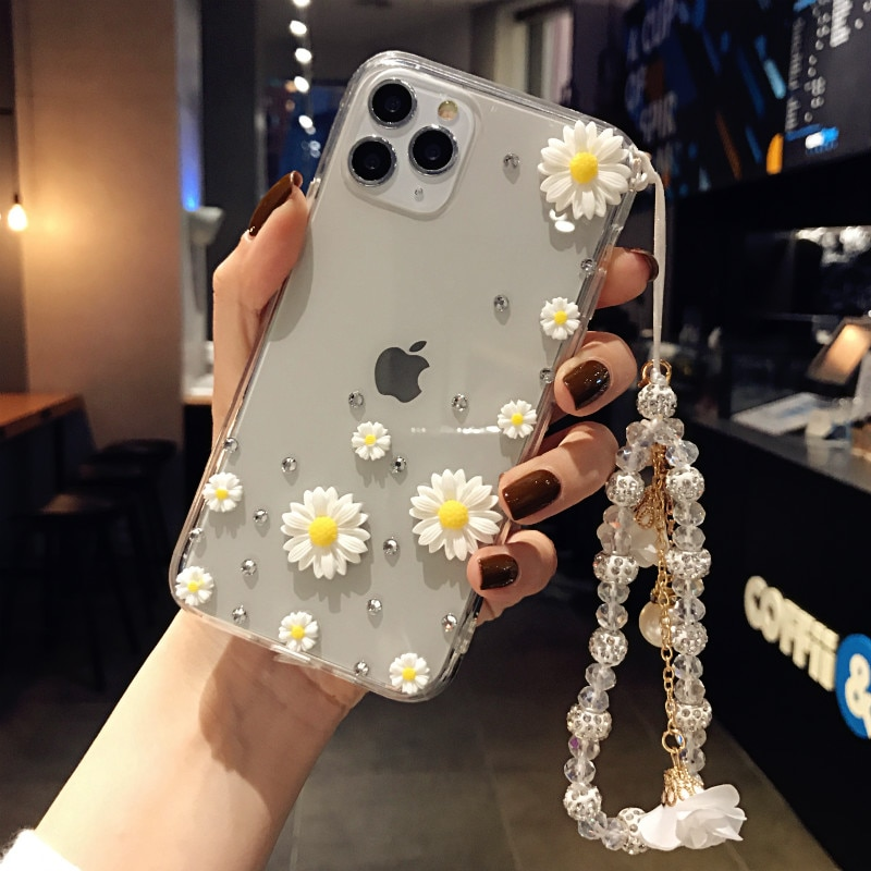 Daisy es adecuado para Huawei mate 8 9 10 20 Lite 30Pro Y5 Y6 Y7 Y9 Pro Prime 2018 2019 funda de teléfono con diamante transparente