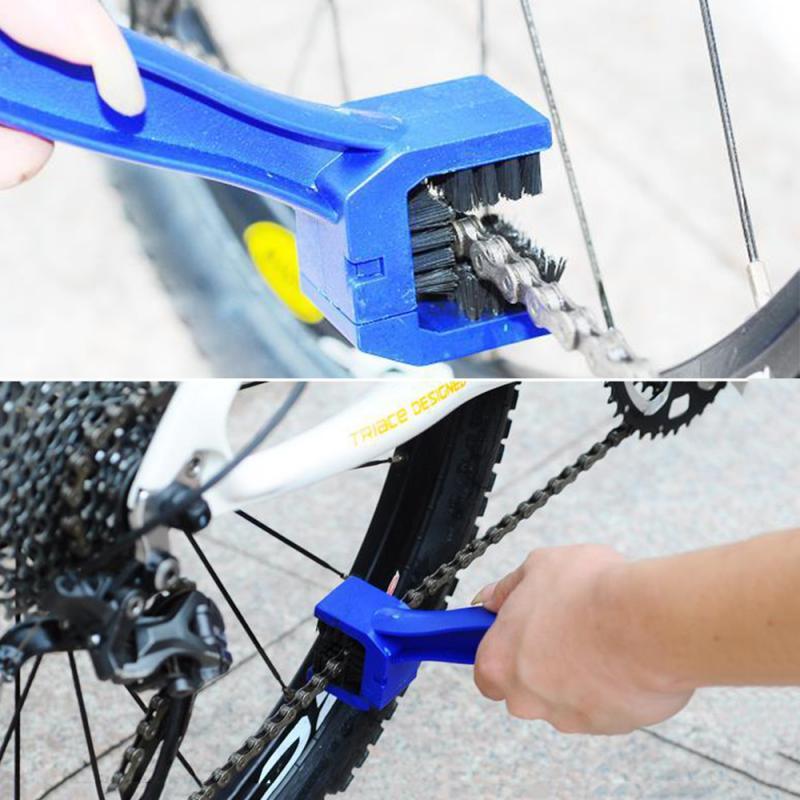 Limpiador de frenos de cadena de bicicleta de Ciclismo de 3 lados cepillo de limpieza cepillo para suciedad de engranajes limpiador herramienta de limpieza al aire libre