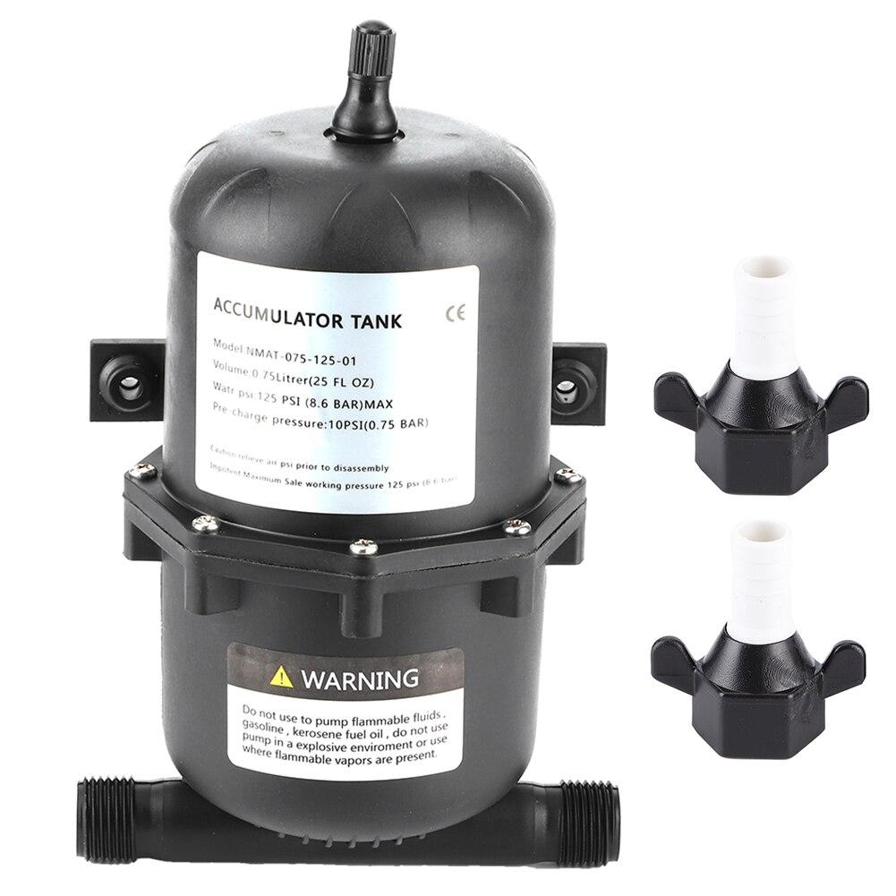 Bomba de Tanque De Agua de presión del acumulador Control de flujo 0,75 L 125PSI impermeable para barco marino RV