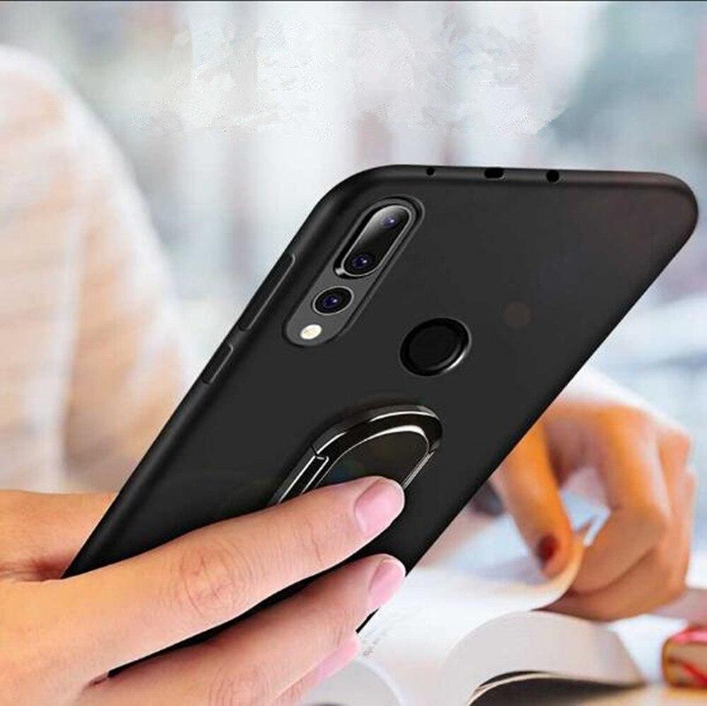 Funda para Huawei P Smart 2019, funda con anillo para el dedo, funda trasera de silicona suave mate para Huawei P Smart 2019, funda para POT-LX3 POT-LX1 inteligente Psmart