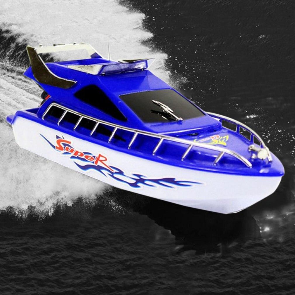 Lancha motora de Control remoto Super Mini eléctrico RC Barco de alta velocidad 4CH 20M barco a distancia RC juego de barco juguetes regalo de cumpleaños para niños