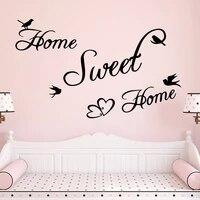 Citations romantiques  autocollants muraux papillon maison douce  affiche dart en Pvc pour chambre a coucher  bricolage  decoration murale amovible