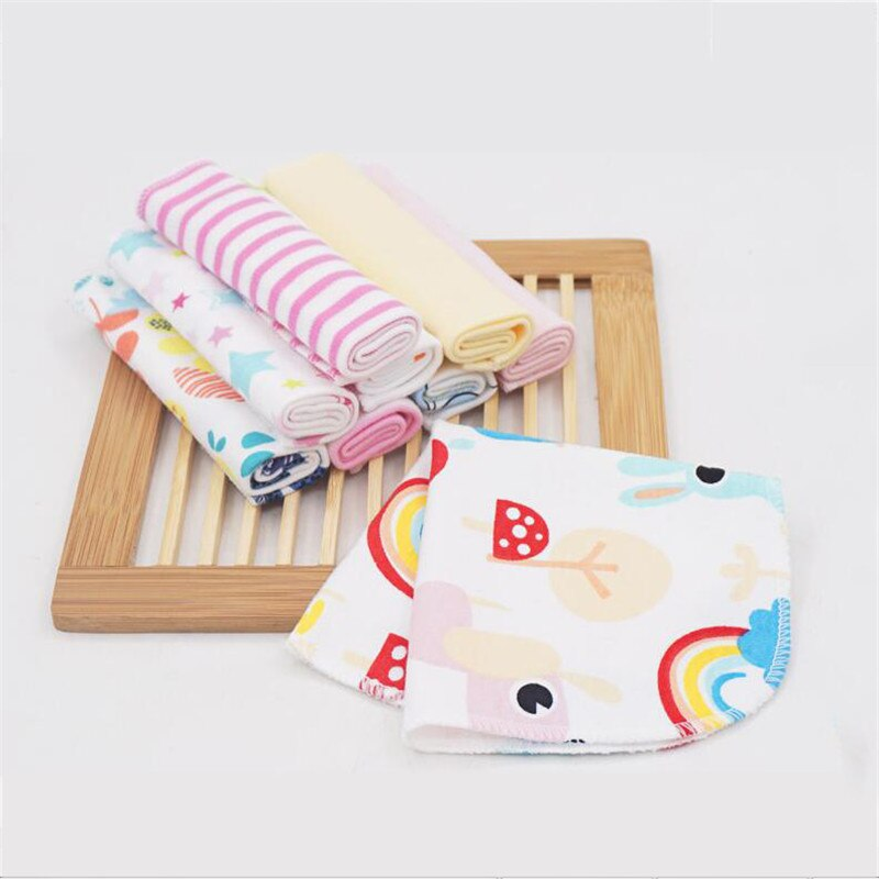 8 pçs infantil toalha várias cores macio infantil toalha de banho toalha de banho alimentação limpar lenço de bebê rosto pequenas toalhas