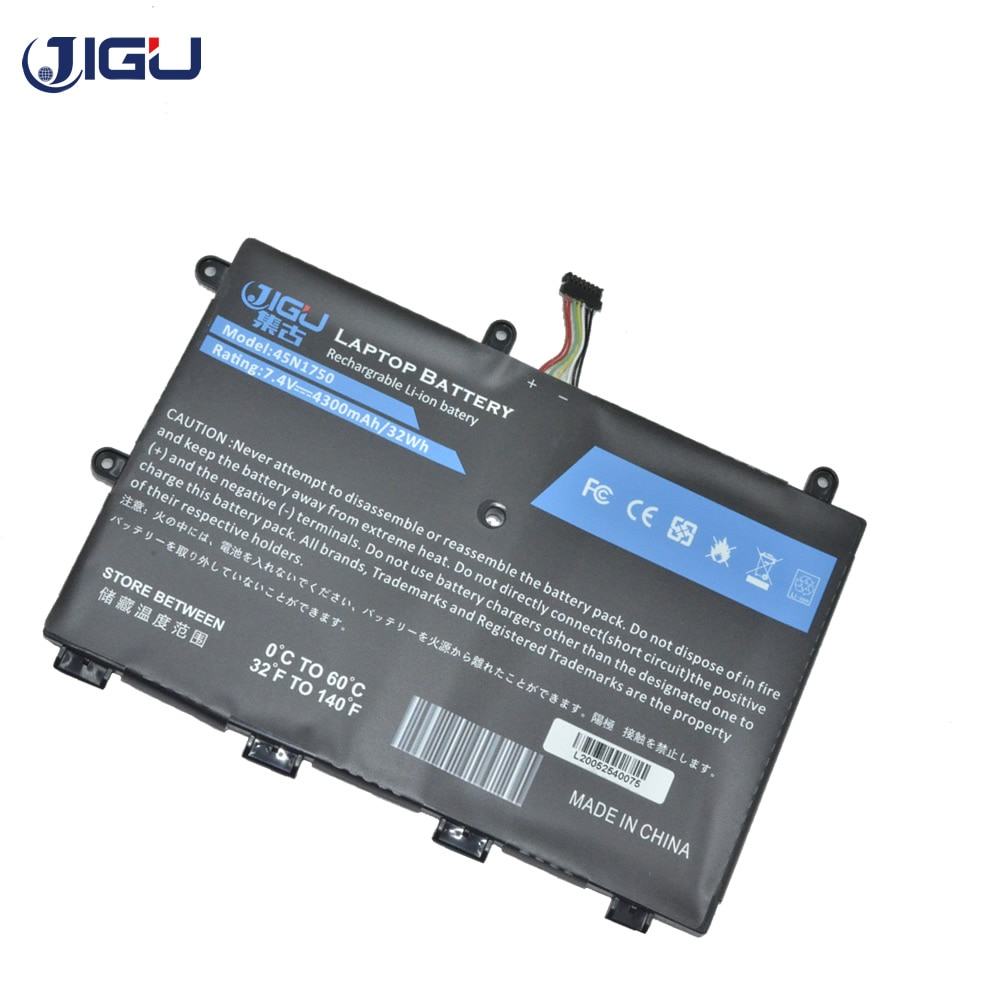 JIGU New Laptop Battery 7.4V 32Wh 45N1750 45N1749 SB10J79001 For LENOVO For ThinkPad 11e