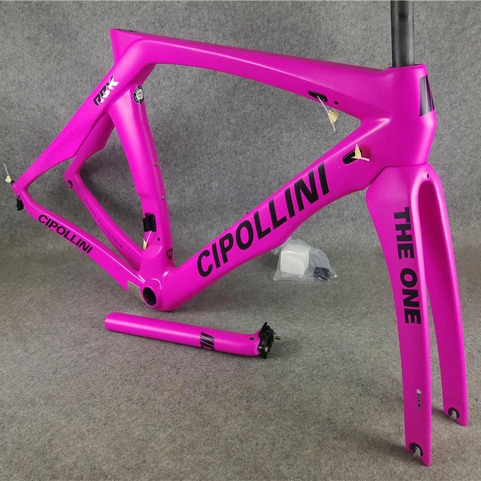 Pink with Black logo T1000 3K Matte Cipollini RB1K THE ONE carbon road bike frames Bicycle Frameset NK1K with XXS/XS/S/M/L/XL