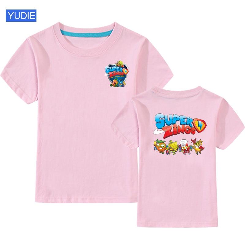 T Shirt Boys T-shirt Fashion Girls Kids Cartoon Front and Back Printing Funny for T-Shirt Children