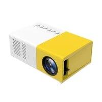 Mini Support portatif de retroprojecteur de cinema maison daffichage a cristaux liquides de videoprojecteur LED de cinema a la maison 1080p AV  USB  carte decart-type-prise de lue