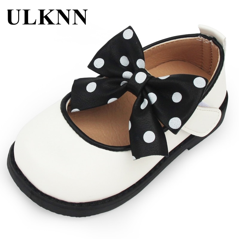 Kid's Shoes Girls Bow Leather Shoes New Childrens Single Shoes White PU Leather Flats Girls Soft-soled Princess Shoes afdswg pu kids shoes girls fashion soft bottom princess shoes new bow leather shoes childrens shoes little girl shoes