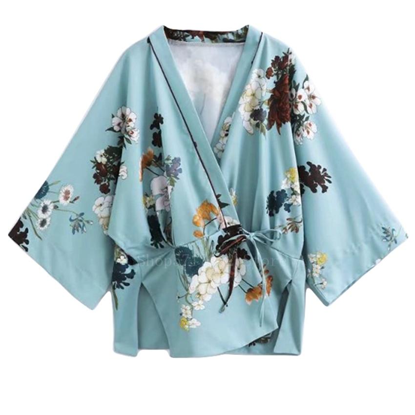 Blusa de Verão Quimono Japonês Tradicional Mulher Floral Cardigan Yukata Vestido Feminino Haori Streetwear 2022