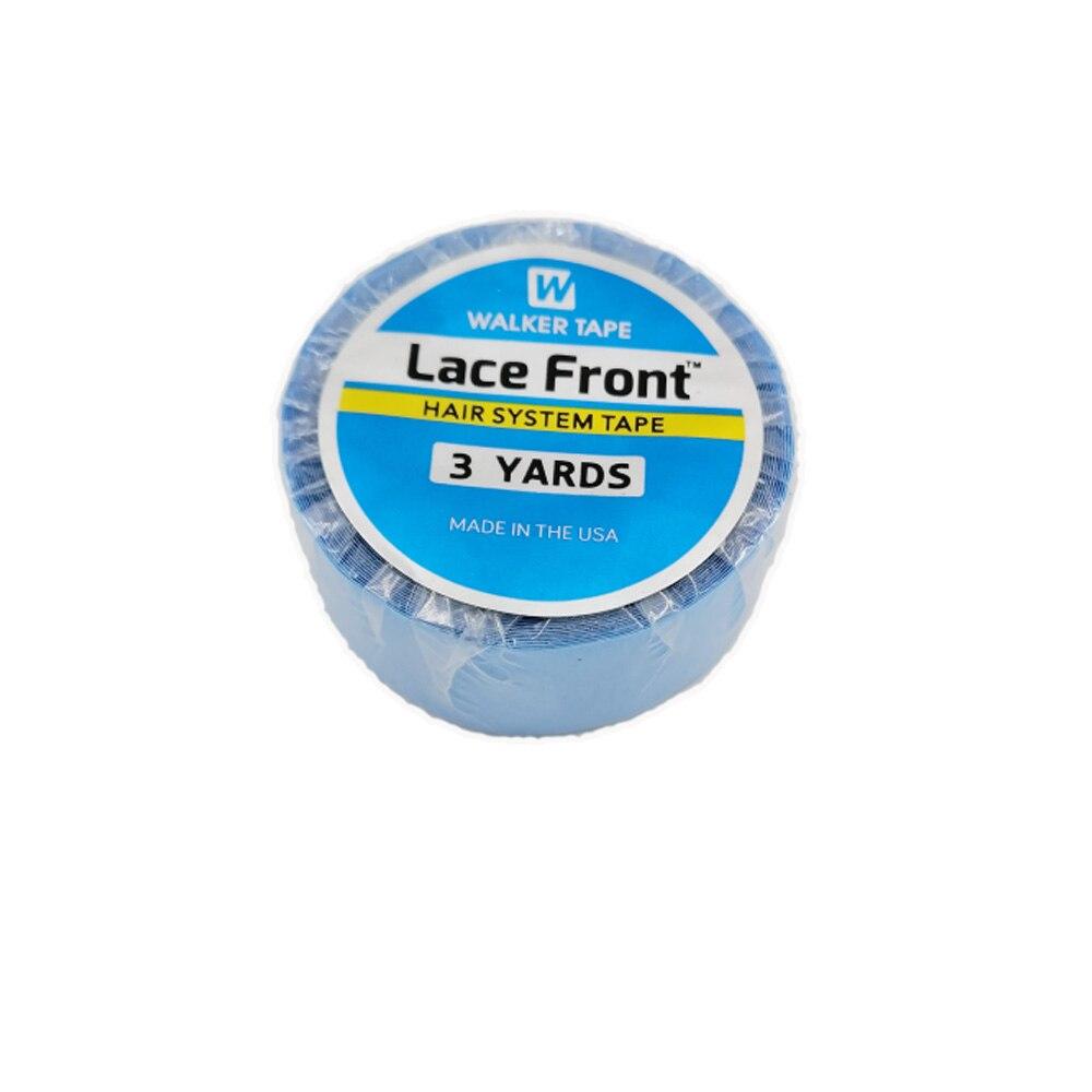 1 rolo walker fita do sistema de cabelo fita azul fita adesiva dupla face para extensão do cabelo/peruca do laço/peruca 1.9 cm * 3 jardas