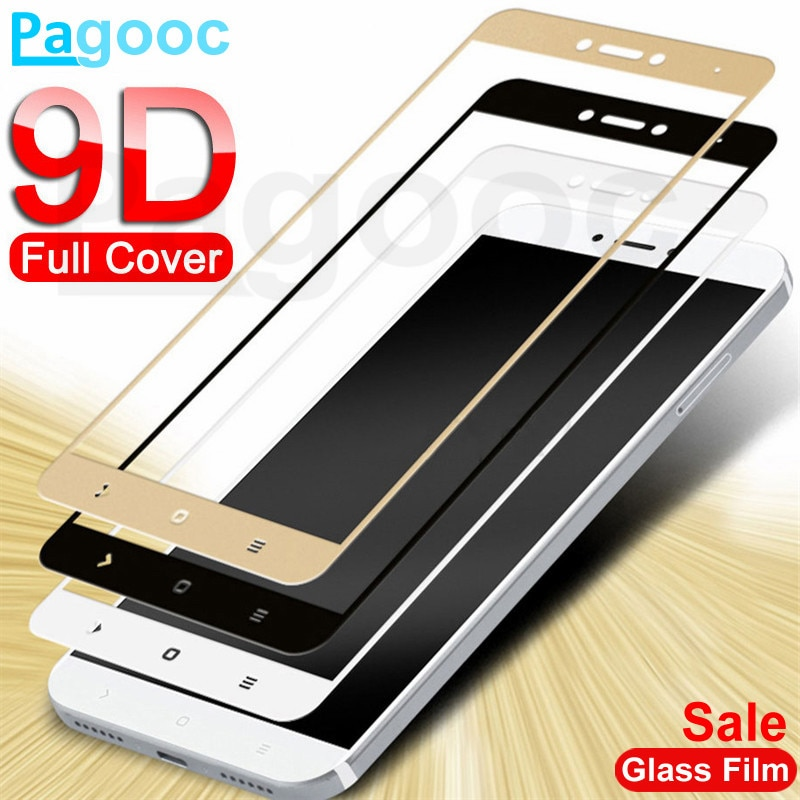 9D Tempered Glass on For Xiaomi Redmi Note 4 4X 5 5A Pro Screen Protector Safety Glass on the Redmi