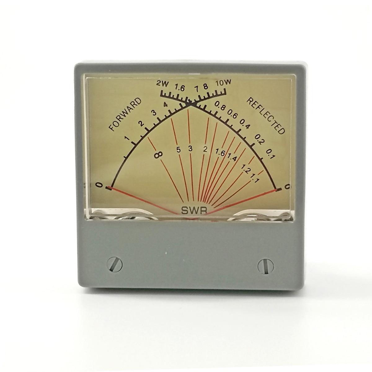 SZ-70 SWR Watt Meter Stationary Standing Wave Ratio Radio VU Forwad 10W Reflected 2W Panel Dual HF