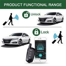 Système dalarme de voiture démarrage automatique verrouillage central moteur voiture sécurité ouverture automatique du coffre alarmes de voiture signalisation système dentrée sans clé