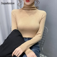 DisappeaRanceLove 2021 Women's Turtleneck Cashmere Sweater Warm Jumpers Ladies Pullover Autumn Winte