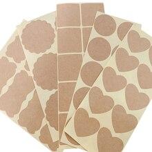 100PCS Various Vintage Blank White Kraft Label Sticker DIY Hand Made Envelopes Stickers Gift Packaging Seal Seals Sticker