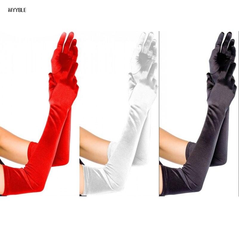 MYYBLE-2020 guantes de baile nupcial de la Perla, Blanco/Negro/blanco, dedo boda guantes...