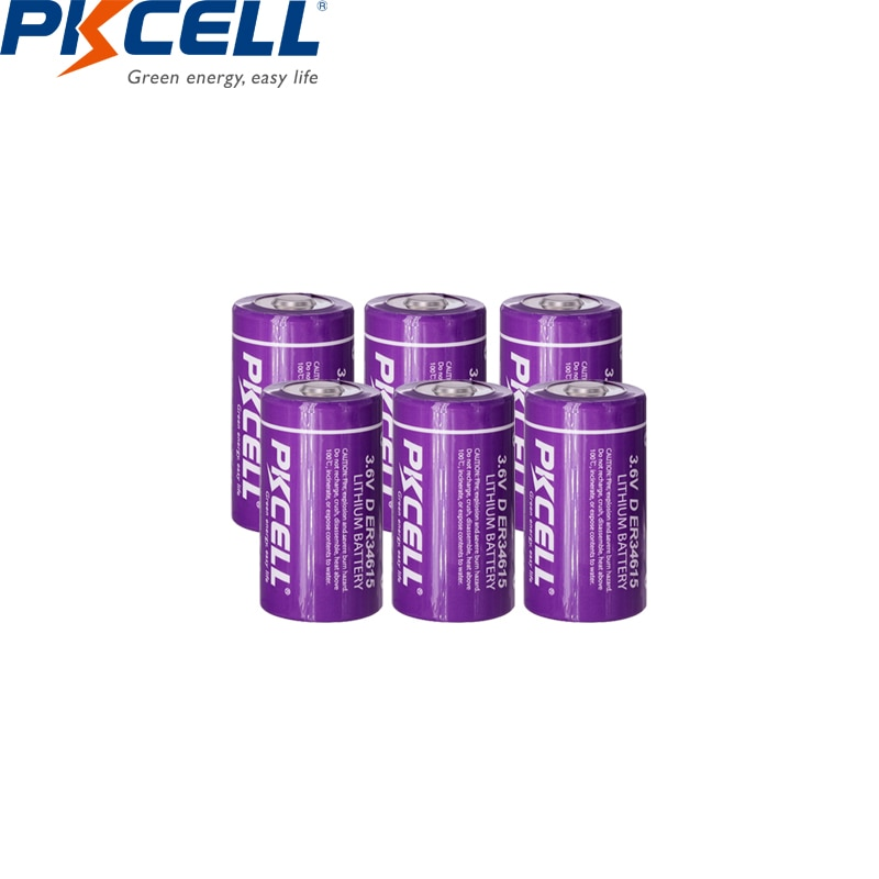 12 piezas * PKCELL D tamaño 3,6 V 19000 mAH ER34615 de litio de uso individual de la batería para agua/medidor de electricidad