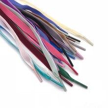 80/90/100/120 cm Length Velvet Surface Shoelaces Women Men Black White Blue Colorful Leather Sports