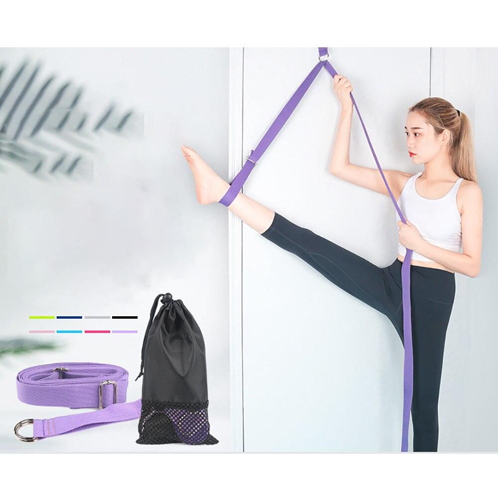 Cinta de Alongamento Cinto para Ginástica Yoga Porta Perna Ajustar Flexibilidade Esportes Ballet Banda Exercício Macia Unisex
