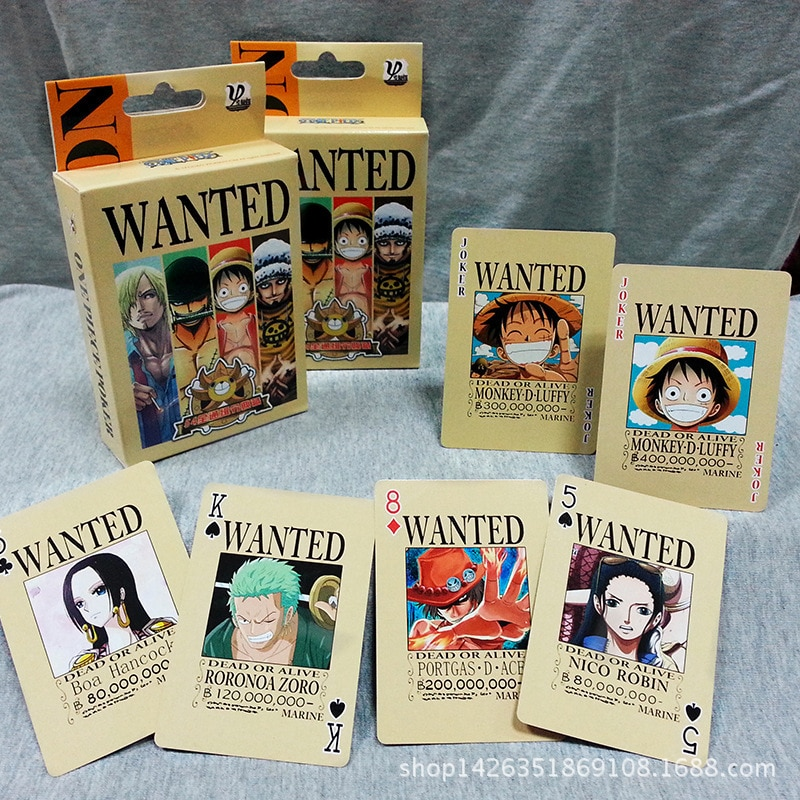 One Piece Monkey D Luffy Anime Poker Game Toys Hobbies Hobby Collectibles Commemorative Edition Game Collection Cards
