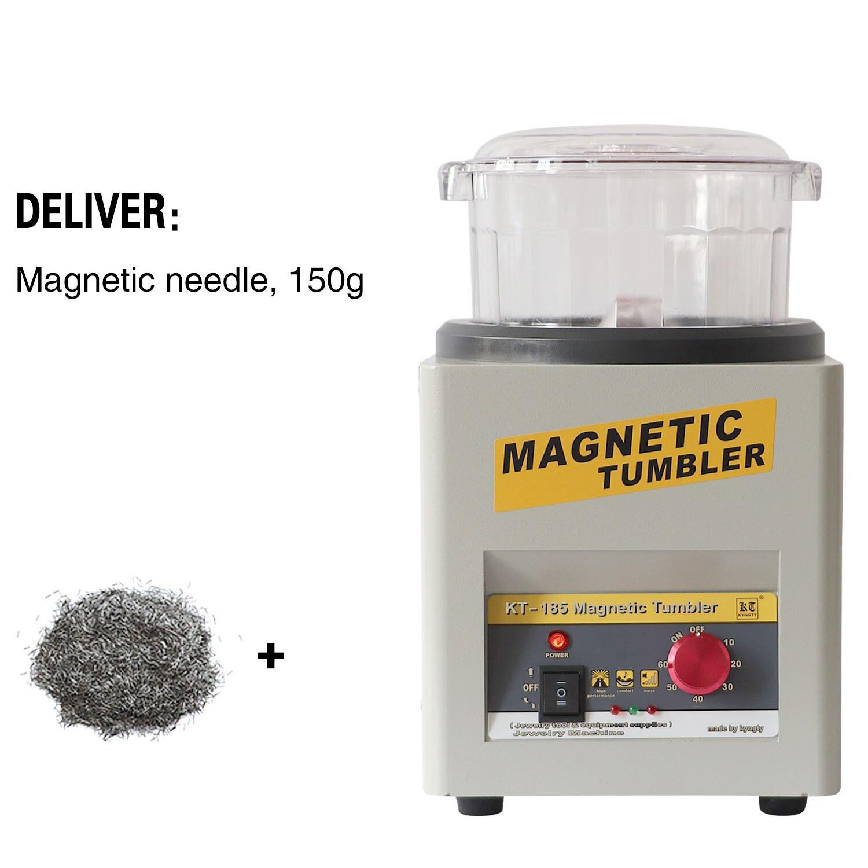 Manufacturer!! KT-185 110V/220V Magnetic Tumbler Jewelry Polisher Finisher Finishing Machine, Magnetic Polishing Machine