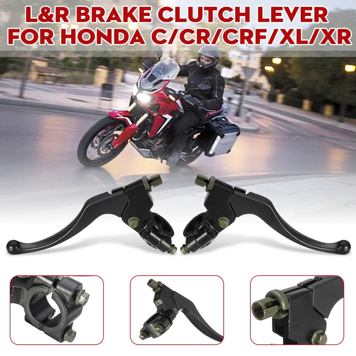 Embrague de palanca de freno de motocicleta negra izquierda/frontal derecho para HONDA C/CR/CRF/XL 1977-2011 2012 2013 2014 2015 2016