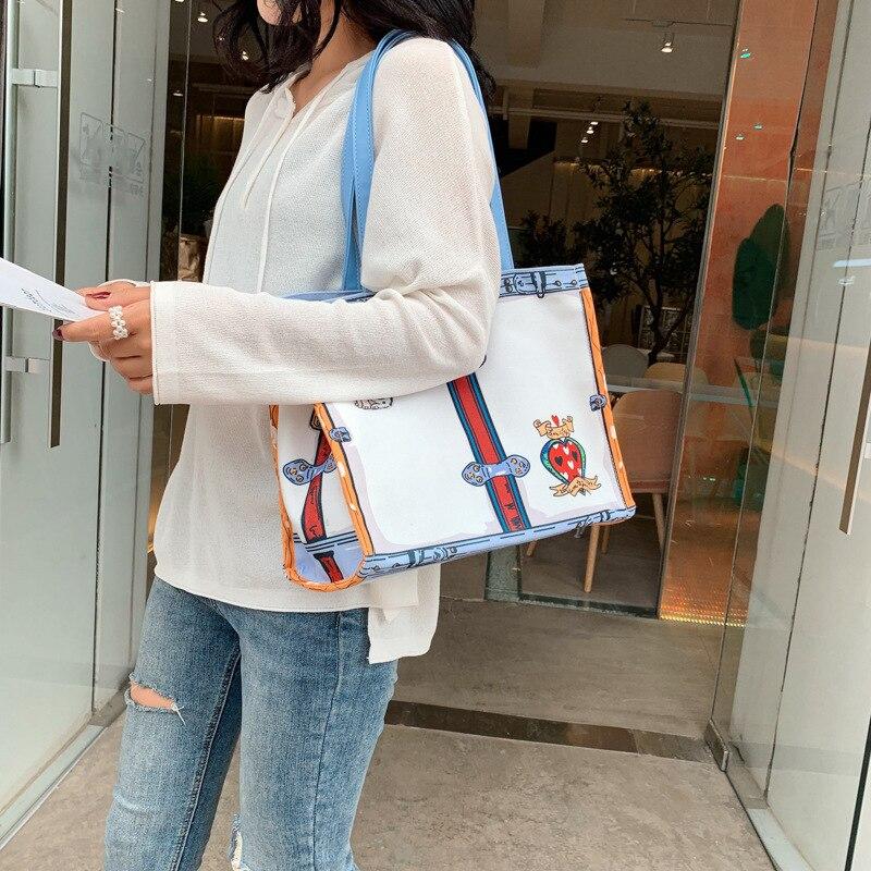 Модные женские сумки, женские холщовые сумки, сумки-мессенджеры, сумки на плечо с принтом, вместительные универсальные простые холщовые сум...