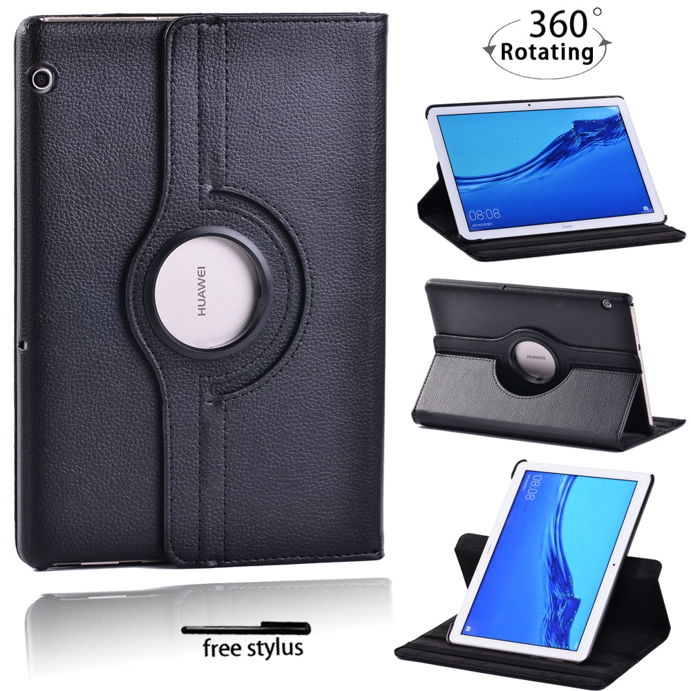 For Huawei MediaPad T5 10 10.1 Inch/T3 10 9.6 Inch 360 Rotating Tablet Case Anti-Drop Cover Case+ Free Stylus enlarge