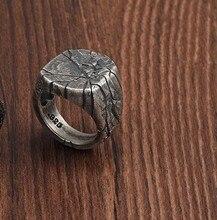 925 sterling silver cracking ring men's domineering personality index finger ring niche design handmade original retro single je
