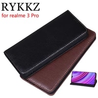 rykkz luxury leather flip cover for realme 3 pro 6 3 mobile stand case for realme 3 leather phone case cover
