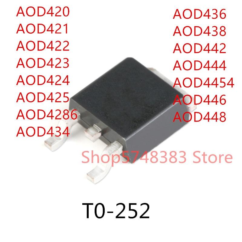 10pcs-aod420-aod421-aod422-aod423-aod424-aod425-aod4286-aod434-aod436-aod438-aod442-aod444-aod4454-aod446-aod448-to-252