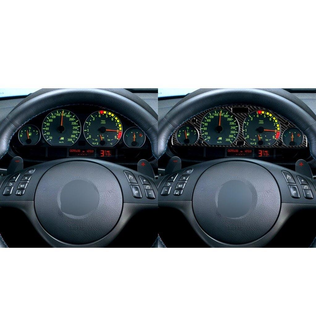 Decoração do carro Do Carro do carro-bon fibra Interior traço Interior da tampa da guarnição adesivos para o velho 3 series E46 1998-2005 наклейки на авто