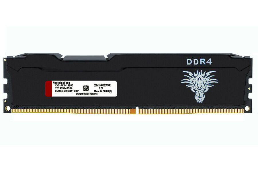 Yongxinsheng DDR4 RAM 4GB 8GB 16GB 2400MHz سطح المكتب ذاكرة PC4-19200 DIMM 288 دبوس 1.2V غير ECC الكمبيوتر أجزاء