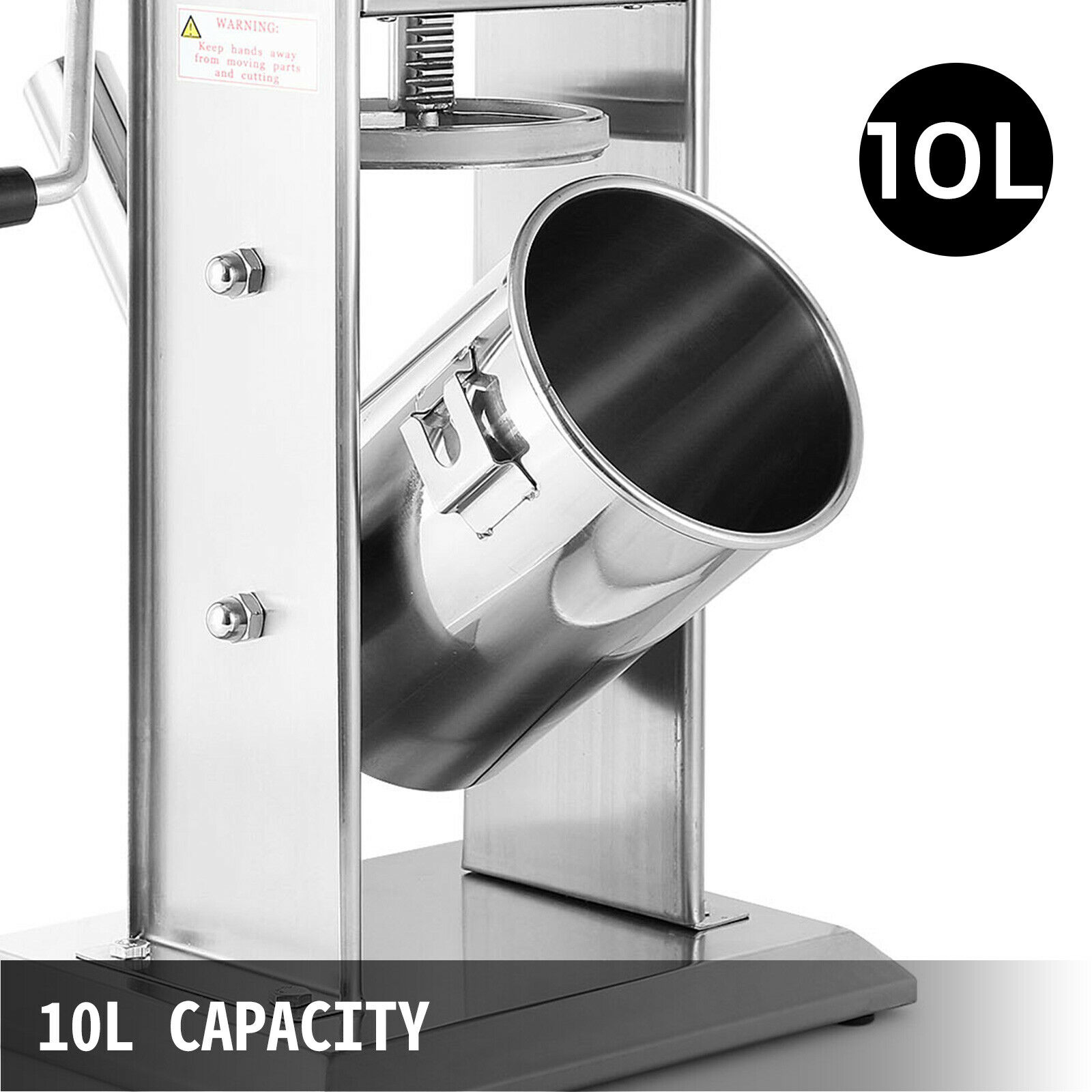 10L السجق ستوفير صانع اللحوم آلة الفولاذ المقاوم للصدأ 5 فوهات حشو يدوي