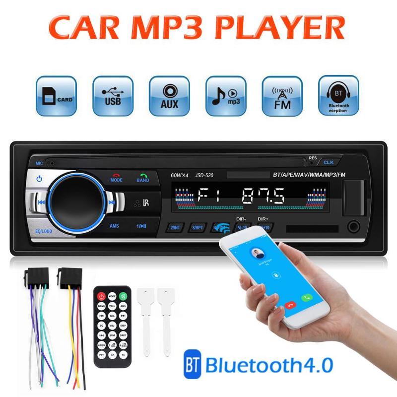 Radio de Coche Autoradio 1 din, pantalla LCD, reproductor de MP3 estéreo para Coche, Radio automática en tablero, Bluetooth, entrada Aux, receptor de Radio FM USB