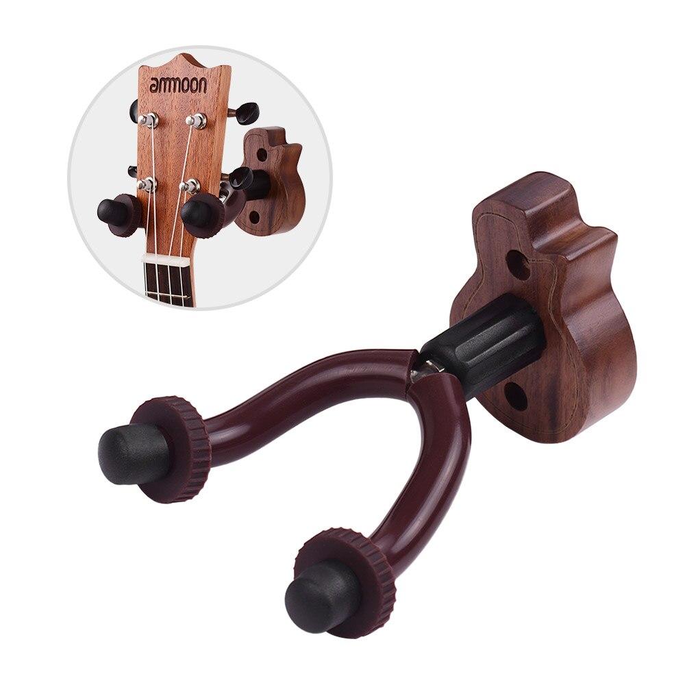 Soporte de gancho para colgar guitarra Ammoon soporte de pared para guitarra bajo guitarra acústica eléctrica accesorios de guitarra