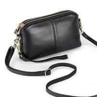 genuine leather clutch female 2021 korean fashion multi layer single shoulder messenger bag small square bag