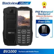 Blackview BV1000 IP68 방수 Shockproof 견고한 휴대 전화 2.4 인치 MTK6261 3000mAh 듀얼 SIM 미니 휴대 전화 손전등