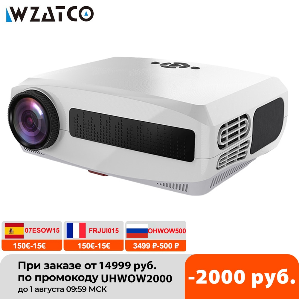WZATCO C3 New LED Projector Android 10.0 WIFI Full HD 1080P 300 inch Big Screen Proyector Home Theater Smart Video Beamer
