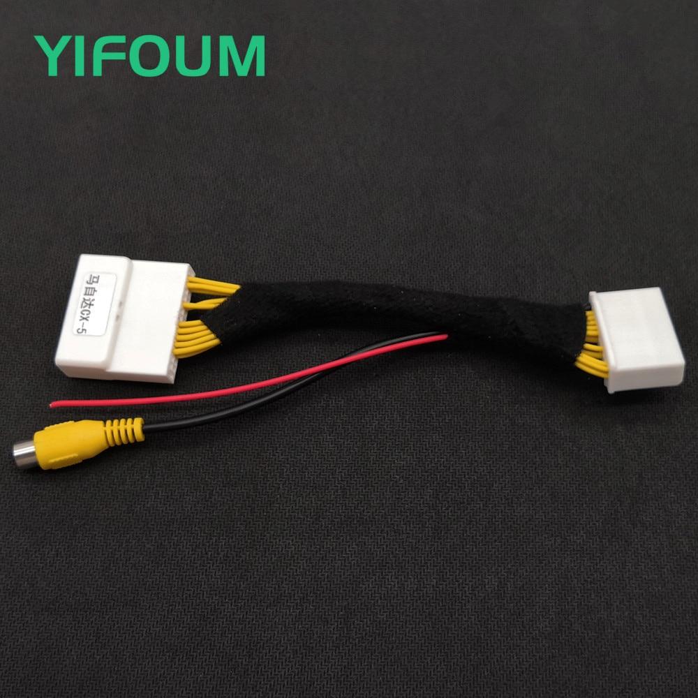 YIFOUM 28Pin Original Video Input Switch Reverse Camera RCA Adapter Cable For Mazda CX-5 CX5 2015 2016 2017 2018 2019