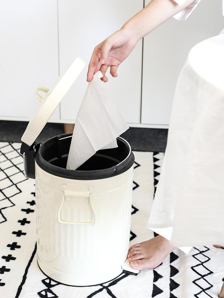 European Pink Trash Can Ecoco Kitchen Garbage Plastic Waste Bins Lightweight Round Basurero Cocina Cleaning Tools EH50WB enlarge
