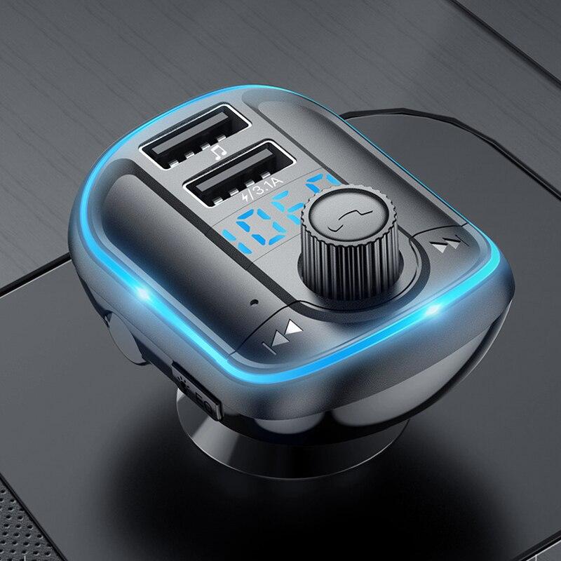 Автомобильный MP3 светильник рыватель CARSUN T829s с подсветкой, Bluetooth 5,0, мониторинг напряжения без потерь музыки, быстрая зарядка с двумя USB, громк...
