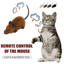 OUTAD Electronic RC Mice Toy Pets Cat Toy Mouse Remote Control Rat Mouse Toy for Cat Pet Wireless Mo